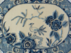 Blue & White Chinoiserie Plate, stitched in one ply blue and while wools