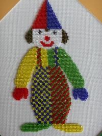 Beaded Clown Embroidery by Shila Shah